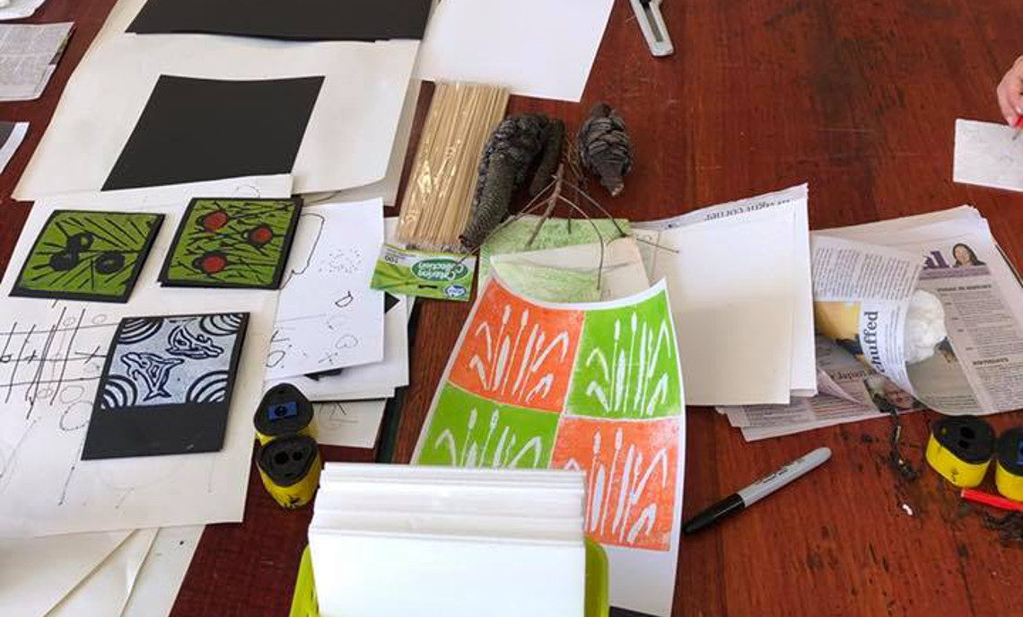 Free Printmaking Workshops at Jigamy Farm